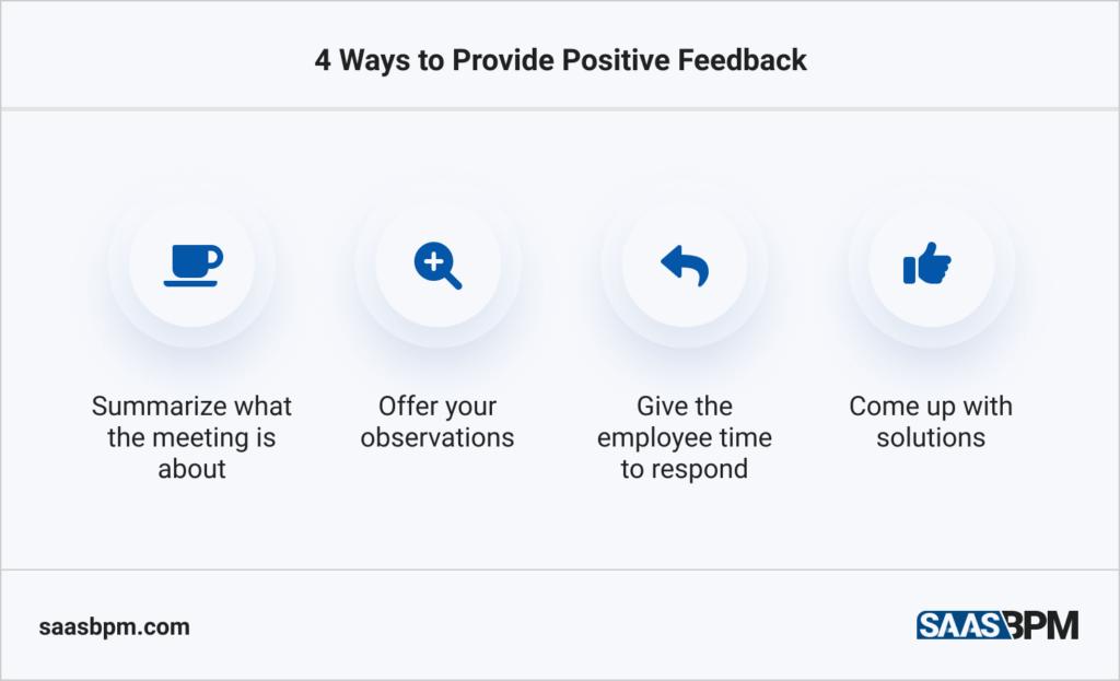 4 Ways to Provide Positive Feedback