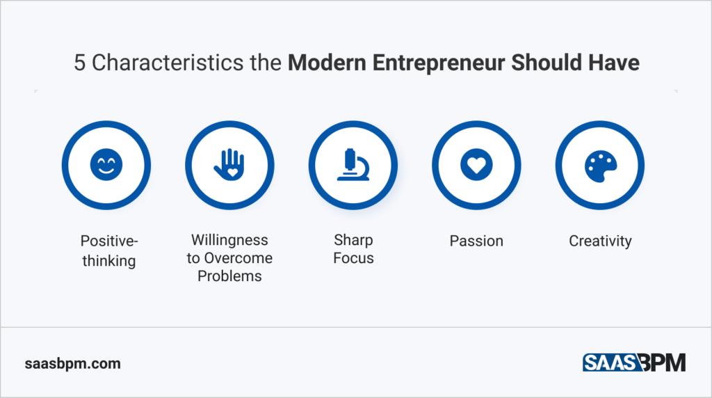 5 Characteristics the Modern Entrepreneur Should Have