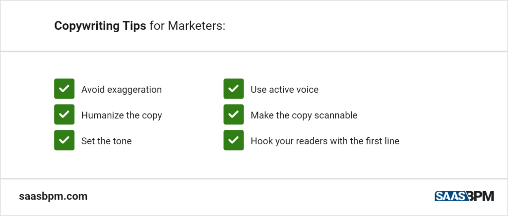 Copywriting Tips for Marketers
