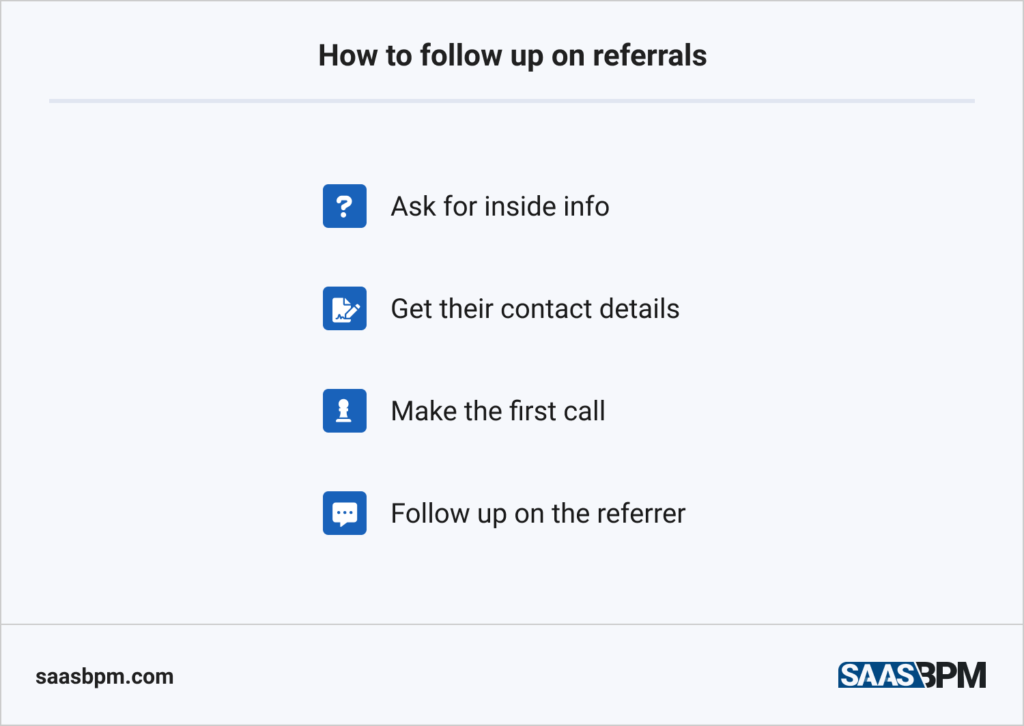 How to follow up on referrals