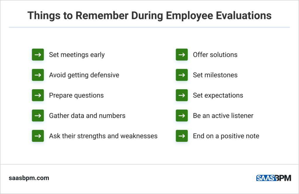 Things to Remember During Employee Evaluations