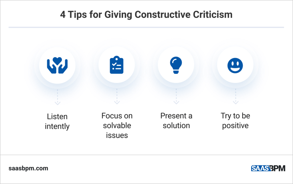 4 Tips for Giving Constructive Criticism