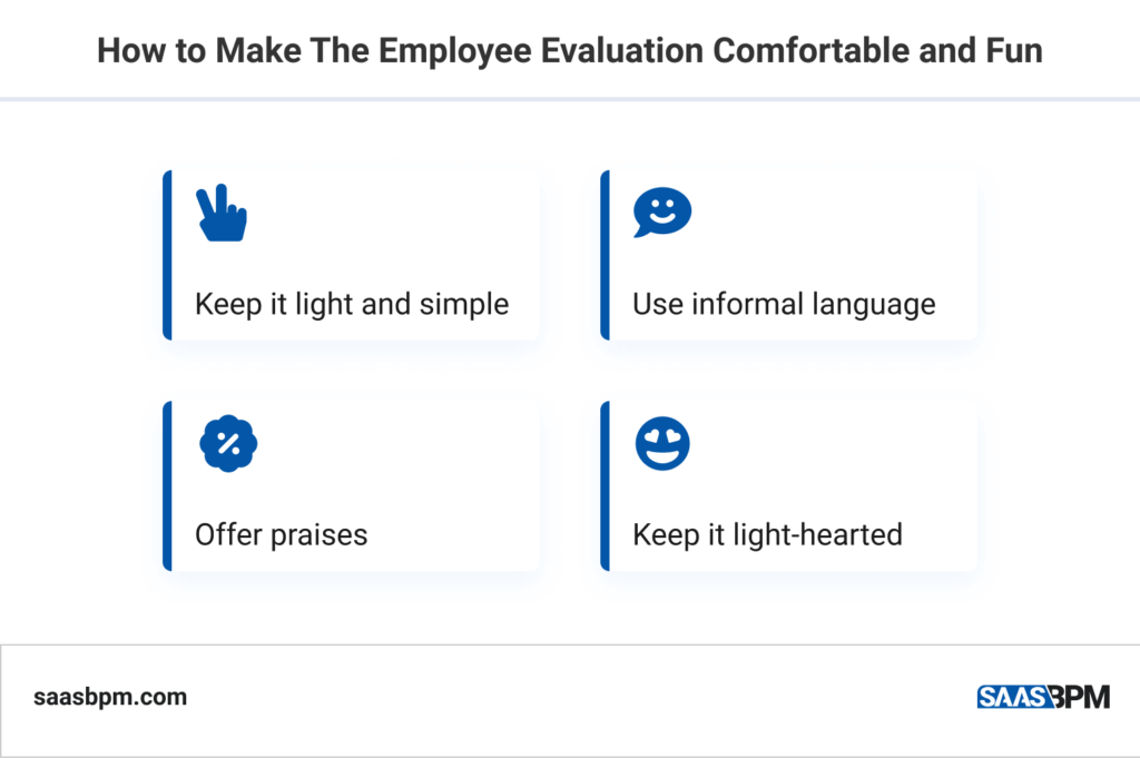 How to Make The Employe Evaluation Comfortable and Fun